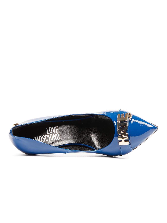 decolleté Love lakleder Moschino Blauw Love Moschino rqXPwZXIx